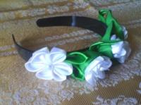 Ободок ( обручь) для волос Белые розы .|escape:'html'