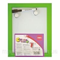 Доски детские для рисования Deli 39900 22х28 цветн пластик рамка + маркер+ 2 магн Код:388907199|escape:'html'