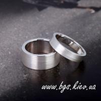 Обручальные кольца «Американка» белое золото