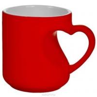 Чашка сублимационная Хамелеон Ручка Сердце Красная|escape:'html'