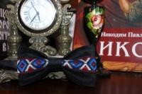 Галстук-бабочка черная с украинским узором / Метелик чорна з українським візерунком|escape:'html'