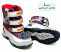 Сапоги зимние детские (сноубутсы) «Пожарник Сэм», бренд «William Lamb» (Англия)