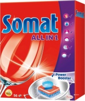 Таблетки для посудомоечной машины Somat All in 1 56 шт|escape:'html'