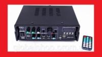 Усилитель UKC AV-323BT + КАРАОКЕ 2микрофона