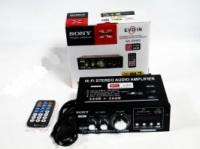 Усилитель Звука SONY 699D FM USB Караоке 2x300 Вт
