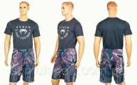 Мужская футболка с коротким рукавом VENUM CO-1716-BK (хлопок, эластан, р-р M-2XL, черный)|escape:'html'