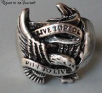 Кольцо для мужское из стали для байкера, крылья 20р|escape:'html'