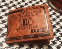 Молодежный бумажник. Мужской кошелек. Недорогое Портмоне. СМК1