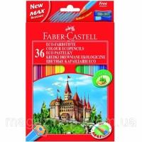 Карандаши цветные Faber_Castell 120136 36цветов шестигранные+точилка «Замок», картонная коробка с подвесом Код:401626027|escape:'html'