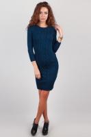 Платье женское вязаное, выше колена AG-0002594 Синий|escape:'html'