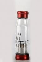 Стеклянная бутылка My Bottle 420 мл с ситечком для заварки красный|escape:'html'