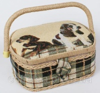 Шкатулка для рукоделия «Мастерица Tapestry Puppies», 23x19x10см escape:'html'