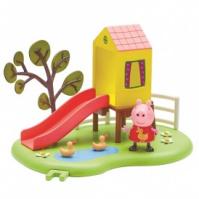 Игровой набор Peppa - ИГРОВАЯ ПЛОЩАДКА ПЕППЫ (домик с горкой, фигурка Пеппы) от Peppa - под заказ escape:'html'