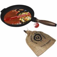 99007 Сковорода чугунная литая с деревянной ручкой 26 см,h-4см|escape:'html'