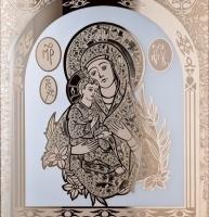 Золотая Эксклюзивная картина - икона. Изготовим картины под заказ. Иконы на зеркале с золочением.