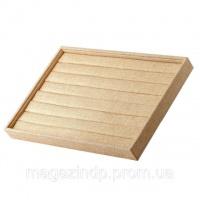 Бокс витрина для колец  пшеничный холст h-3 см L35х24см Код:574798536|escape:'html'