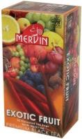 Чай Mervin черный Exotic Fruit пакетированный 25*2гр.