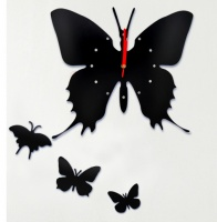Настенные часы Бабочка, цвет черный|escape:'html'