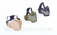 Маска защитная пол-лица из стальной сетки для пейнтбола CM01 (сталь, р-р регулируемый, цвета в ассортименте)|escape:'html'