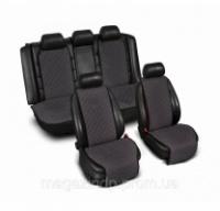 Накидки на сиденье «Эко-замша» широкие (комплект) без лого, цвет темно-серый Код:639926574|escape:'html'