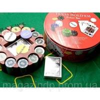 Покерный набор (2 колоды карт +240 фишек+сукно)(d-25. h -8,5 см)(вес фишки 4 гр. d-39 мм) Код:26727|escape:'html'