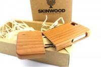 Эксклюзивный деревянный раскладной чехол Вишня для iPhone 5/5S