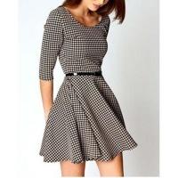 Платье шотландка, платье гусиная лапка, плаття escape:'html'