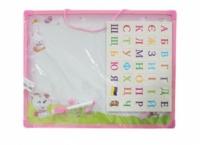 SPYH050302 Доска розовая магнитно-маркерная укр.алфавит, в пакете|escape:'html'