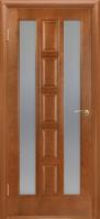 Дверное полотно «КВАДРО»  (цвет-каштан) остекленное, 2000*40*600,700,800,900 мм. escape:'html'