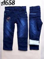 Утепленные джинсы на флисе на мальчиков 5-9 лет