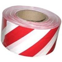 Лента сигнальная оградительная «Стандарт» бело-красная 75мм * 100м|escape:'html'