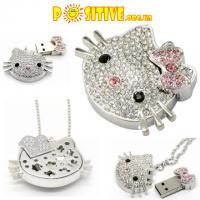 Флешка-кулон «Hello Kitty» с цепочкой (16Гб./usb2.0) - в наличии 1шт.