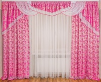 Ламбрекен со шторами для спальни «Моника»|escape:'html'