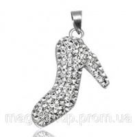 Подвеска Туфелька (TN324).Серебро 925 с кристаллами Swarovski Код:2852|escape:'html'