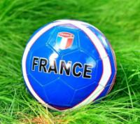Футбольный мяч ПВХ для детей Франция синий|escape:'html'