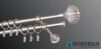 Карниз металлический PLASTIDEA для шторы 120 см.|escape:'html'