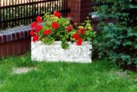 Вазон бетонный садовый, цветочник парковый, цветник из бетона, ваза для цветов для сада, двора и парка|escape:'html'