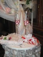 Свадебные бокалы в красной гамме|escape:'html'