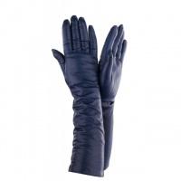 Женские длинные перчатки кожа Италия Имидж Галант 052-40 джинс|escape:'html'