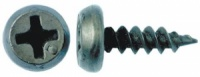 Саморез блоха 3,5х11 острая черная  уп (1000 шт)