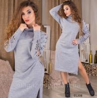 Вязаное платье женское 01208 СВ Код:625417623|escape:'html'