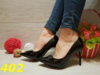 Женские классические туфли лодочки черные, с бантом, р.36-41|escape:'html'