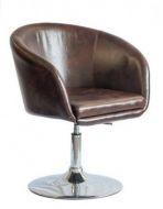 Кресло Мурат НЬЮ, мягкое сиденье, хром, цвет темно-коричневый escape:'html'