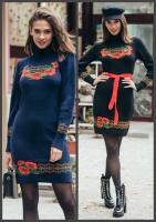 РАЗНЫЕ ЦВЕТА. Стильное платье с великолепными цветами fe838c66cd16c
