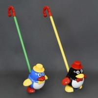 Каталка 0339 (96) «Пингвин» на палочке, 2 цвета, в кульке|escape:'html'