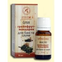 Эфирное масло для бани и сауны Ароматика Грейпфрут-Мандарин, Объем 10 мл