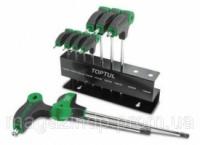 Набор ключей TORX с ручкой L-обр. T10-T50  9ед. TOPTUL GAAX0901 Код:27626236|escape:'html'