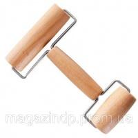 Валик для пицци двойной Бамбук Код:116515