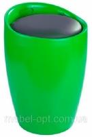 Пуф пластиковый Мари зеленый с мягкой подушкой из кожзама|escape:'html'