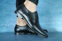 Мужские классические туфли Karat Черные 10696 escape:'html'